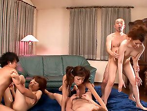 Asian,Japanese,Group Sex,Japan HDV,japanese,asian,group sex,orgy,missionary,doggy style,cowgirl Naughty girls from the camp got a...