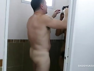 HD,HD Daddy and Asian Boy Robin Flip Fuck Raw