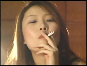 smoking;asian,Asian;Smoking Asian girl smokes...