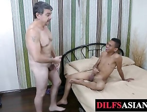 daddysasians;old-vs-young;oldvsyoung;twink;mature;daddy;twinks;anal;missionary;rimjob;rimming;ass-licking;fingering,Bareback;Daddy;Asian;Twink;Gay Mature daddy...